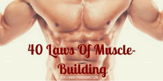 40 Laws Of Muscle-Building- An Infographic