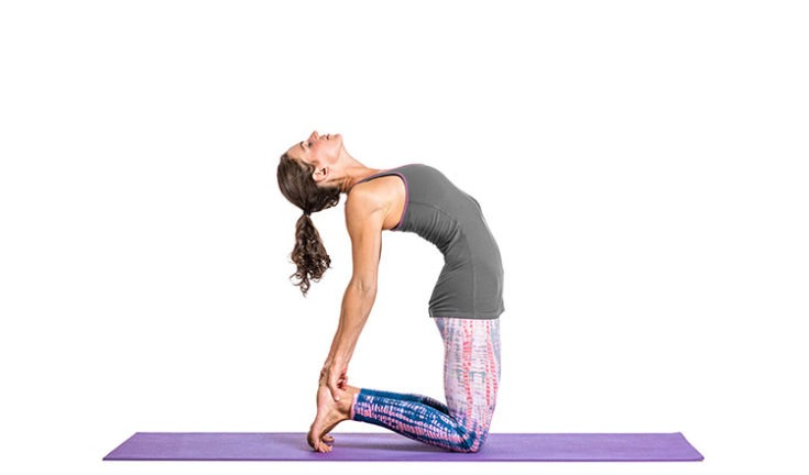 Camel pose for women