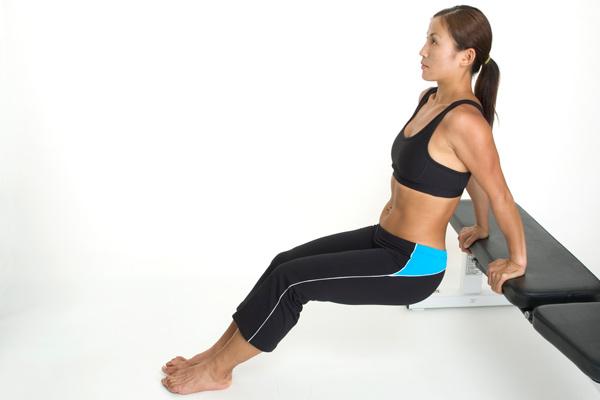 Triceps dips for women